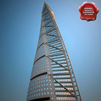 3d hsb turning torso building