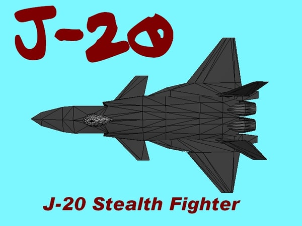 chinese j-20 stealth fighter obj