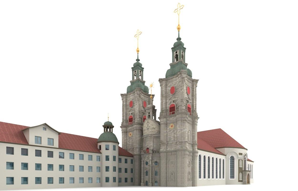 abbey gall st switzerland 3ds