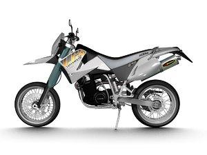 ktm lc4 supermoto 2001 3d model