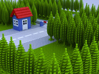 LEGO TRAIN X-CROSSING SCENE 2011