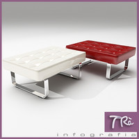 3d model bench mies