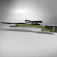 sniper rifle m40a3 m40 3d ma