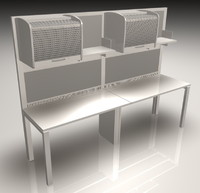 office workstation meta 3 3d model