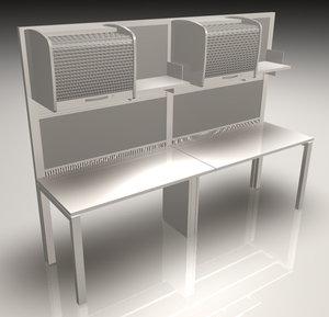 office workstation meta 3 3d model