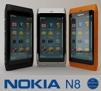 nokia n8 smartphone 3d model