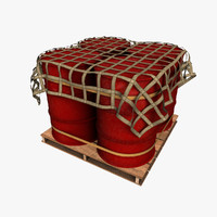 oil drum pallet 3d obj