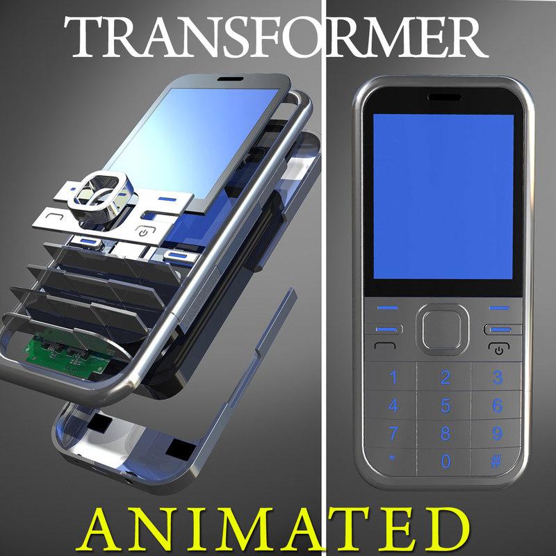3d generic cellular phone transformation model