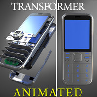 3d generic cellular phone transformation model