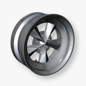 3d model muscle car wheel rim