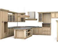 3d model roda milan kitchen
