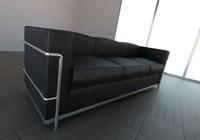 3d sofa le corbusier