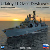 Udaloy II Class Destroyer with Kamov 27