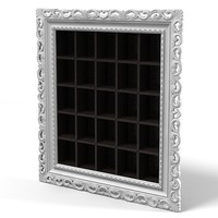 VISMARA barocco baroque classic frame mirror picture shelves storage