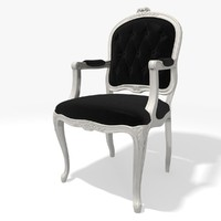 3d classic tufred armchair eichholtz model