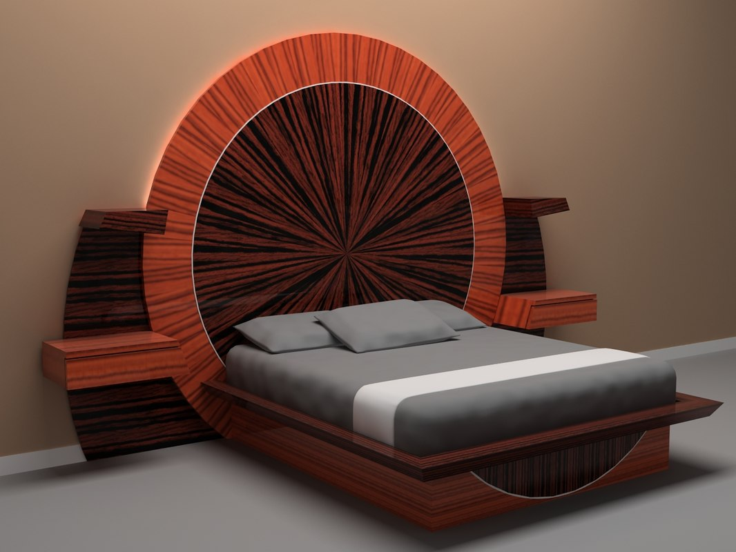 3d model parnian furniture bed