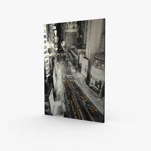 3d model canvas square new york