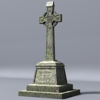 3d model celtic gravestone