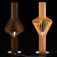 CGAxis Wooden Floor Lamp 05