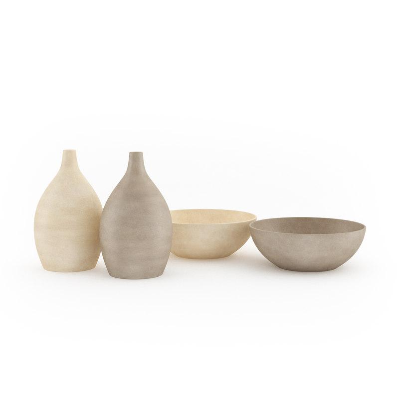 bowl vase set 3d max