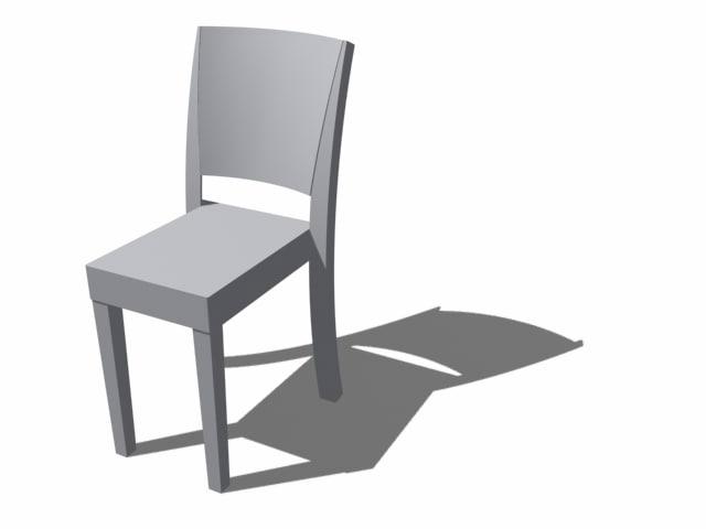 chaise marie 3d max