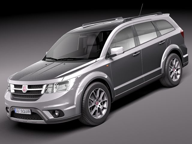 3d model fiat freemont 2012 suv