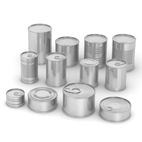 3d model alluminium food cans