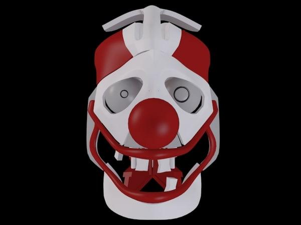 mechanical robot clown head 3d max