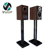 speakers heco metas xt301 3d model