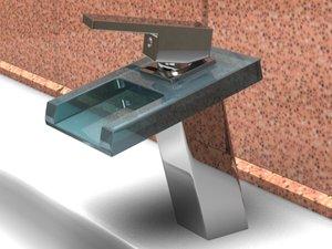 3d model of bathroom sink faucet