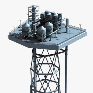mobile offshore production units 3d model