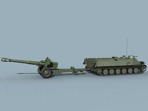 3d soviet howitzer d-20 mt-lb