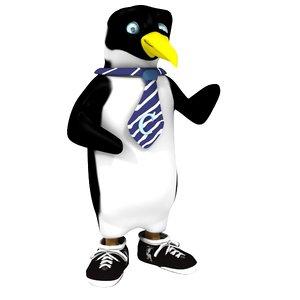 penguin character 3d model