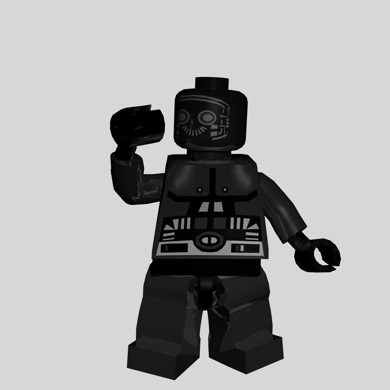 lego robot 3d model