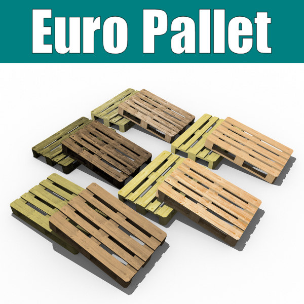 3d model euro pallet