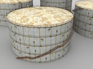 oil silo polys 3d model