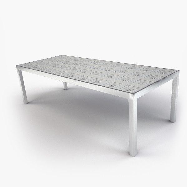 classic cornelio dining table 3d max