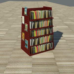 3d book shelf merchandiser