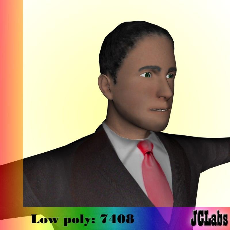 3d model business man
