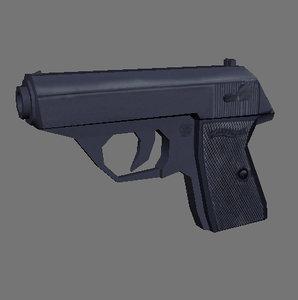 3d model of gun