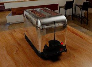toaster mentalray bread obj