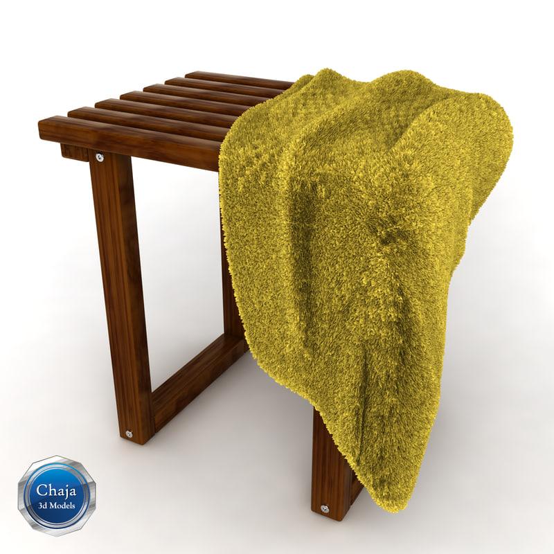 3d model towel rack chair