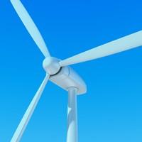 wind generator 3d obj