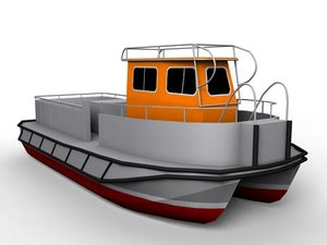 industrial workboat hose 3d max