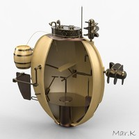 3d model turtle submarine