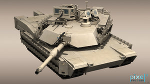 m-1a2 abrams tank tusk 3d max