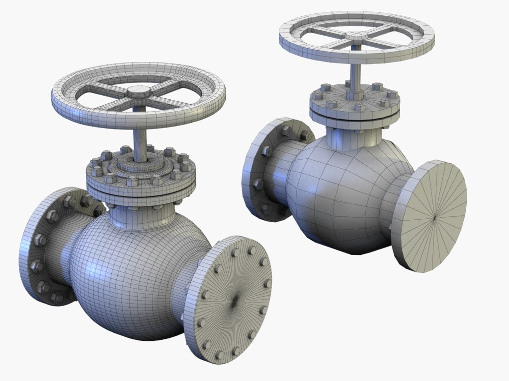 3d model of valve simple modelled