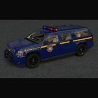 3d chevrolet suburban state police car model