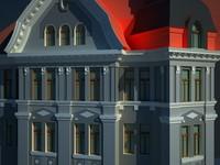 3d building modern model