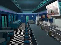 diner displays 0 3d dwg